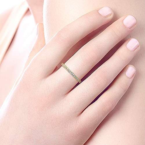 14k Yellow Gold Stackable Eternity Stackable Ladies' Ring angle 5