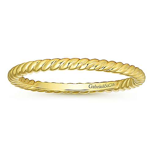 14k Yellow Gold Stackable Eternity Stackable Ladies' Ring angle 4