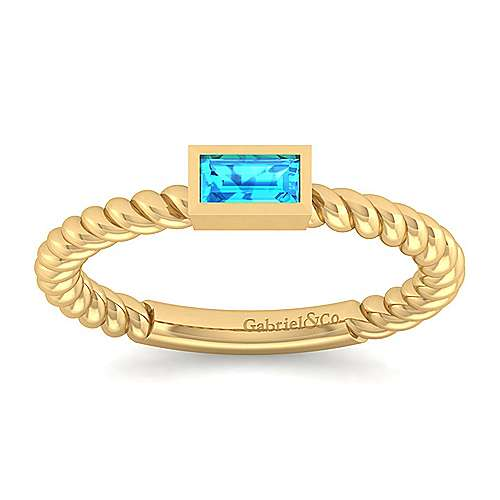 14k Yellow Gold Stackable Fashion Ladies' Ring angle 5