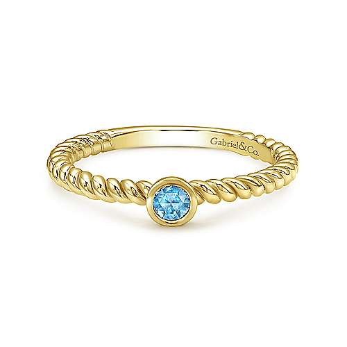 Gabriel - 14k Yellow Gold Stackable Fashion Ladies' Ring