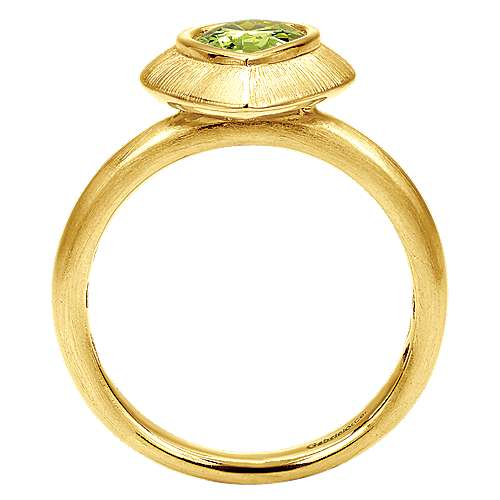 14k Yellow Gold Stackable Fashion Ladies' Ring angle 2