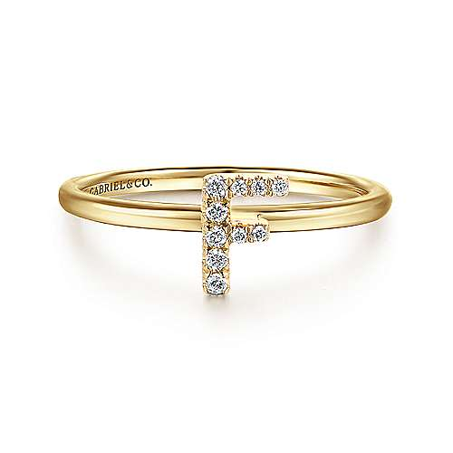 14k Yellow Gold  Initial