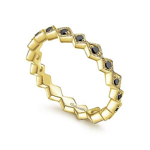 14k Yellow Gold Stackable Ladies