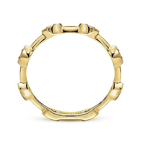 14k Yellow Gold Stackable Ladies
