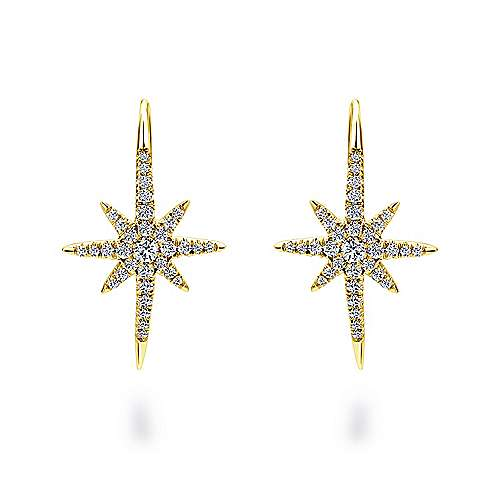 Gabriel - 14k Yellow Gold Starlis Drop Earrings