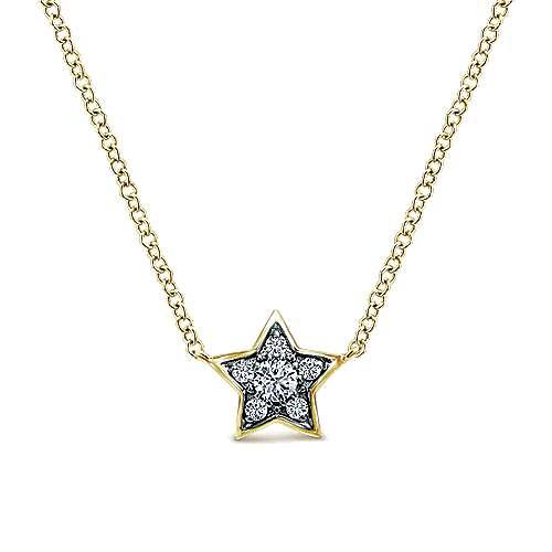 14k Yellow Gold Starlis Fashion Necklace angle 1