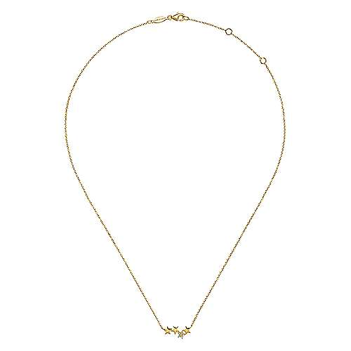 14k Yellow Gold Starlis Fashion Necklace angle 2