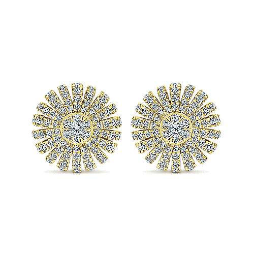 Gabriel - 14k Yellow Gold Starlis Stud Earrings