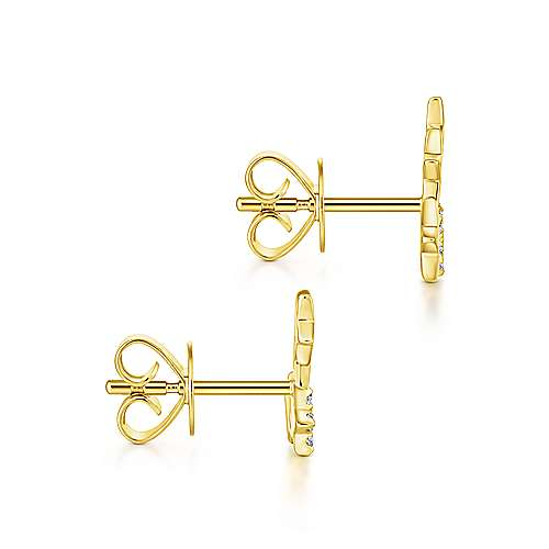 14k Yellow Gold Starlis Stud Earrings angle 3