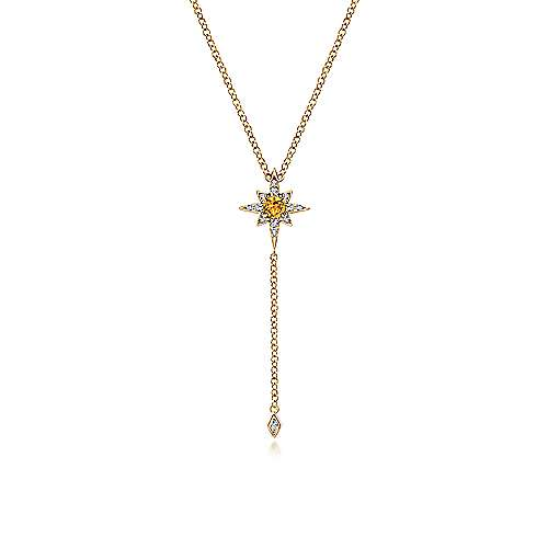 14k Yellow Gold Starlis Y Knots Necklace