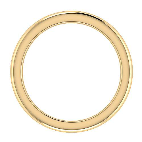 14k Yellow Gold Straight Wedding Band angle 2