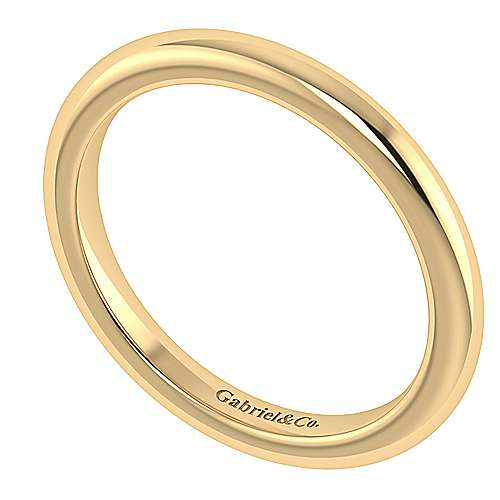 14k Yellow Gold Straight Wedding Band angle 3