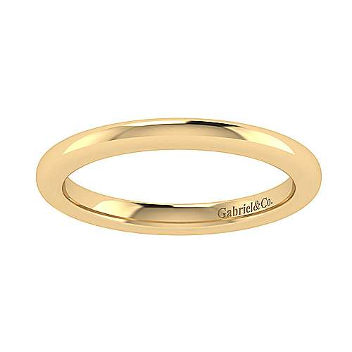 14k Yellow Gold Straight Wedding Band angle 5