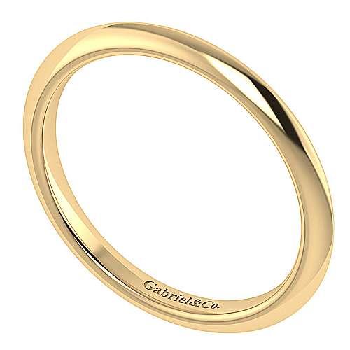 14k Yellow Gold Straight Wedding Band angle 3