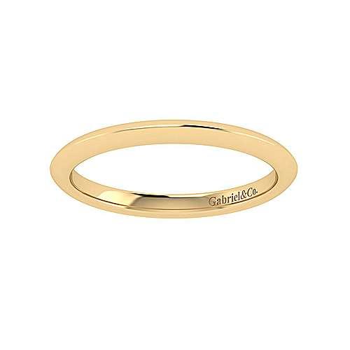 14k Yellow Gold Straight Wedding Band angle 5