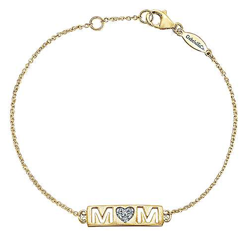 14k Yellow Gold Treasure Chests Chain Bracelet