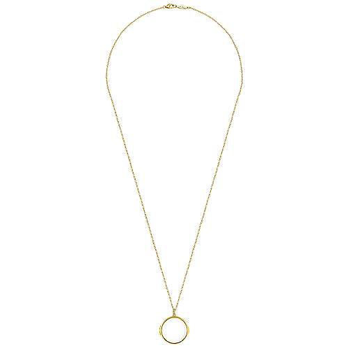14k Yellow Gold Treasure Chests Locket Necklace angle 4