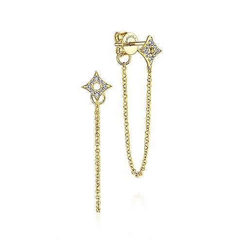 Gabriel - 14k Yellow Gold Trends Drop Earrings