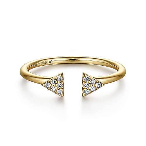 Gabriel - 14k Yellow Gold Trends Fashion Ladies' Ring