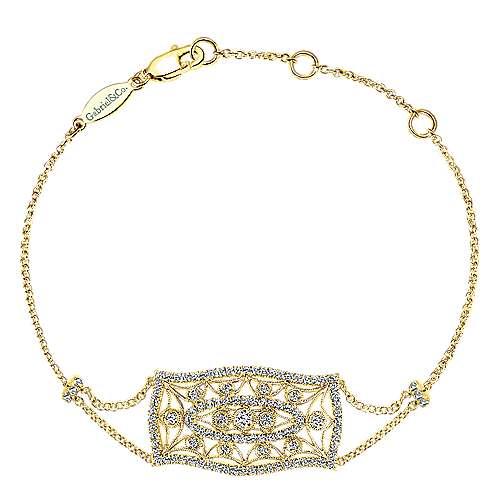 Gabriel - 14k Yellow Gold Victorian Chain Bracelet