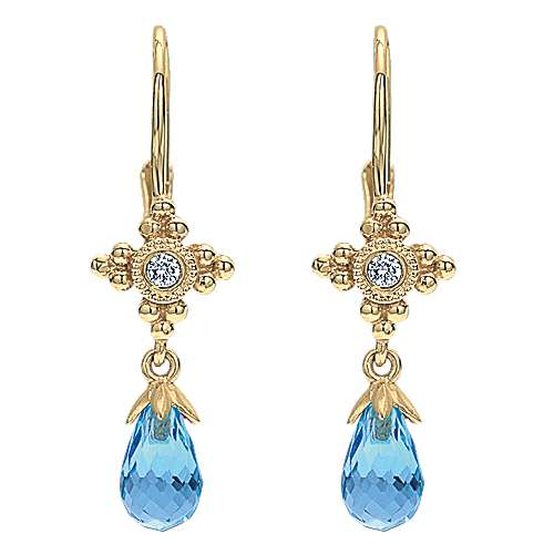 Gabriel - 14k Yellow Gold Victorian Drop Earrings