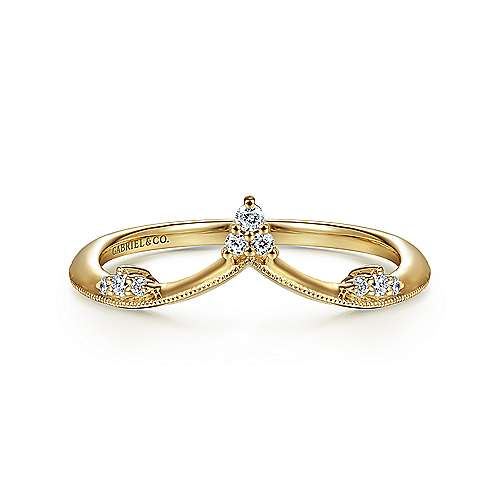 14k Yellow Gold Victorian Fashion Ladies' Ring angle 1