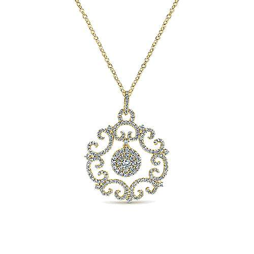 Gabriel - 14k Yellow Gold Victorian Fashion Necklace