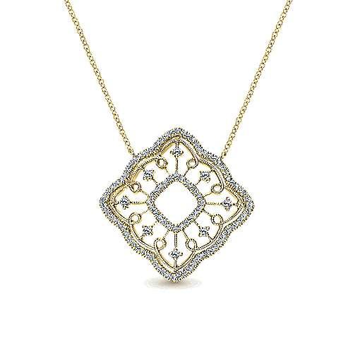 Gabriel - 14k Yellow Gold Victorian Fashion Necklace