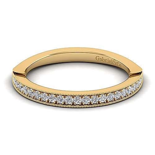 Gabriel - 14k Yellow Gold Victorian Straight Wedding Band