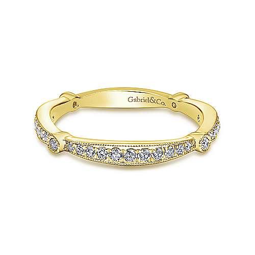 Gabriel - 14k Yellow Gold Victorian Straight Wedding Band