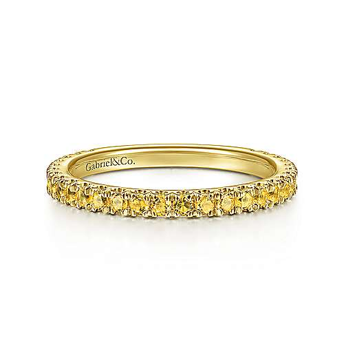 14k Yellow Gold Yellow Sapphire Stackable