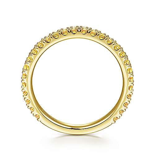 14k Yellow Gold Yellow Sapphire Stackable Ladies