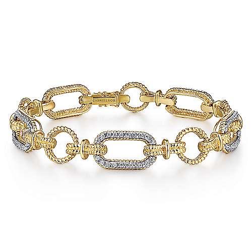 14k Yellow/White Gold Tennis Bracelet