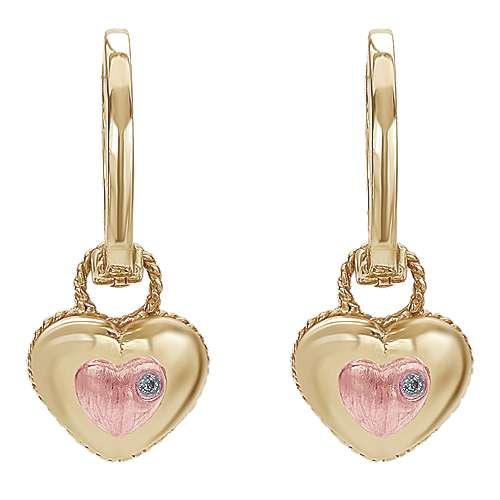 Gabriel - 14k Yellow/pink Gold Secret Garden Drop Earrings