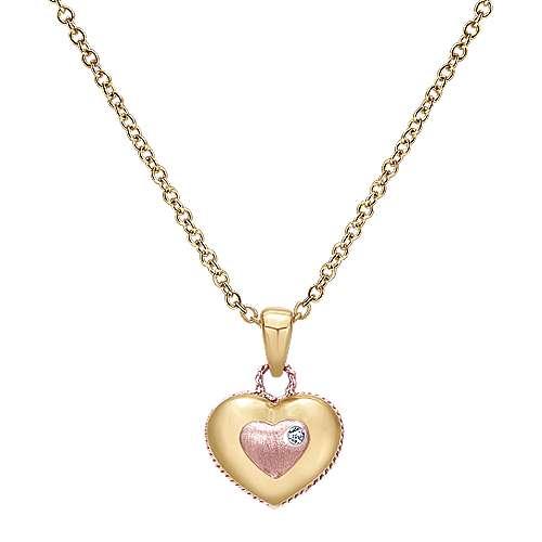 Gabriel - 14k Yellow/pink Gold Secret Garden Fashion Necklace