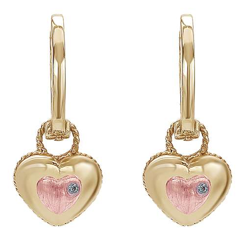 Gabriel - 14k Yellow/rose Gold Secret Garden Drop Earrings