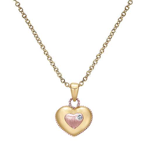 Gabriel - 14k Yellow/rose Gold Secret Garden Fashion Necklace