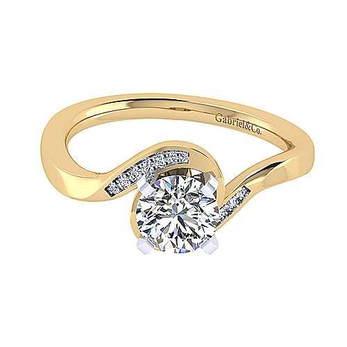 14k Yellow/white Gold Diamond Bypass