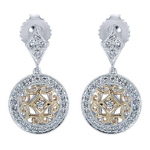 Gabriel - 14k Yellow/white Gold Flirtation Drop Earrings