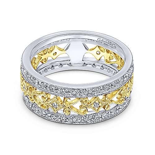 Gabriel - 14k Yellow/white Gold Flirtation Fashion Ladies' Ring