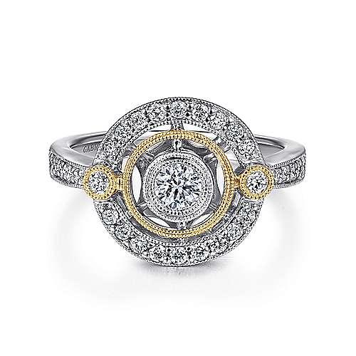 14k Yellow/white Gold Diamond Fashion
