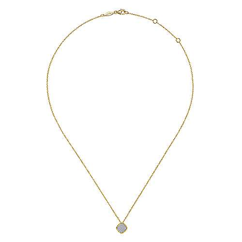 14k Yellow/white Gold Diamond Fashion Necklace angle 2