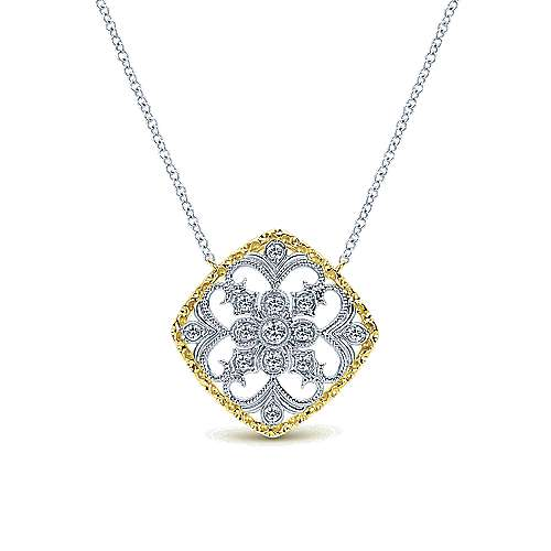 14k Yellow/white Gold Diamond Fashion Necklace angle 1
