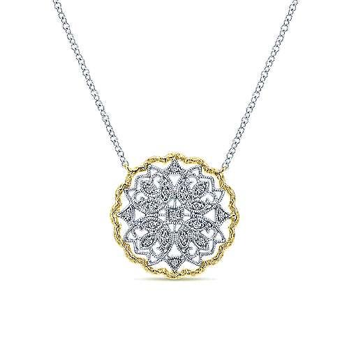 Gabriel - 14k Yellow/white Gold Victorian Fashion Necklace