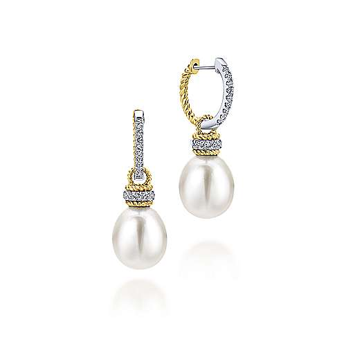 Gabriel - 14k Yellow/white Gold Grace Drop Earrings
