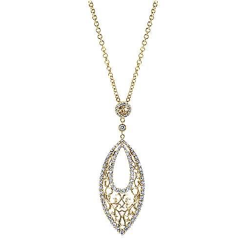 Gabriel - 14k Yellow/white Gold Flirtation Fashion Necklace