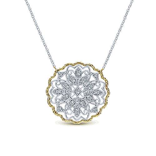 Gabriel - 14k Yellow/white Gold Flirtation Fashion Necklace