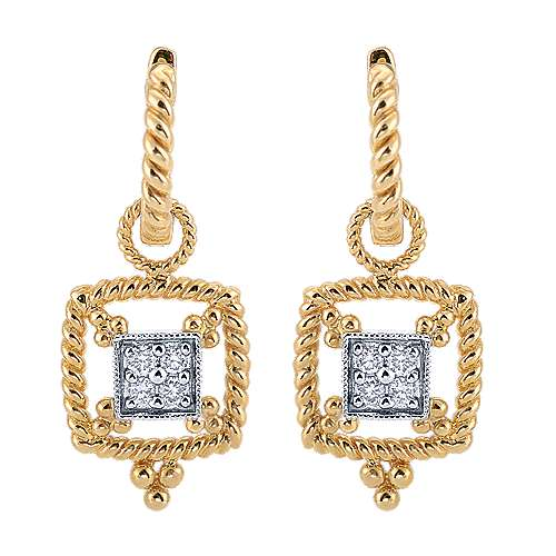 Gabriel - 14k Yellow/white Gold Hampton Drop Earrings