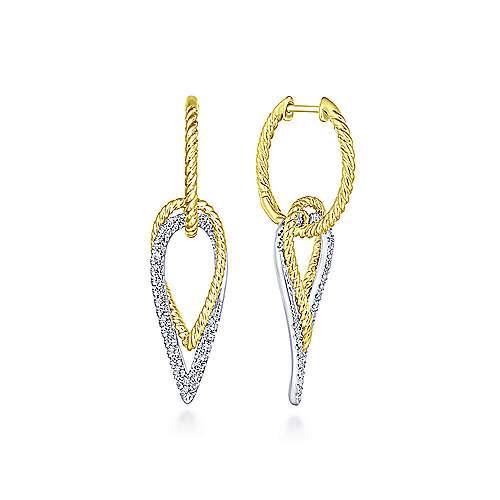 Gabriel - 14k Yellow/white Gold Hampton Drop Earrings