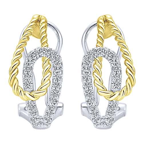 Gabriel - 14k Yellow/white Gold Hampton Fashion Earrings